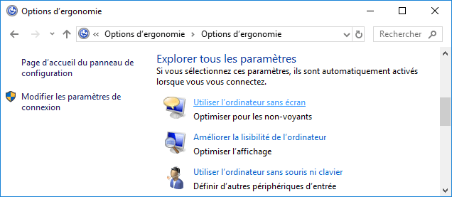 Utiliser l'ordinateur sans écran Windows 10