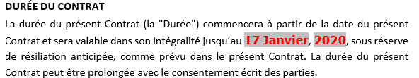 Le corps du document dans Word 365
