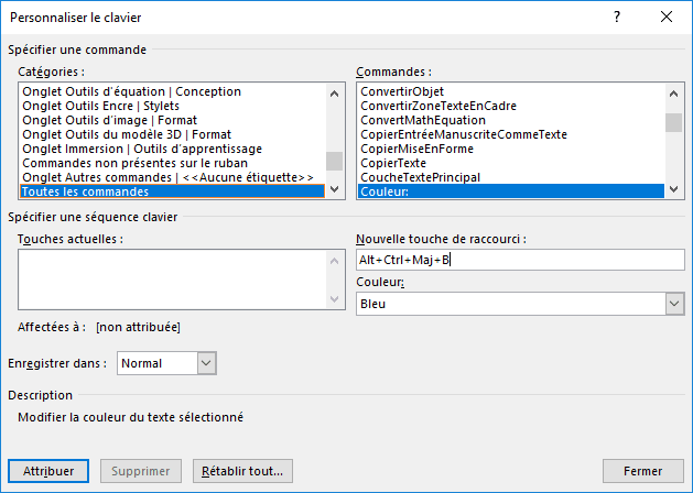 Personnaliser le ruban dans Options Word 2016