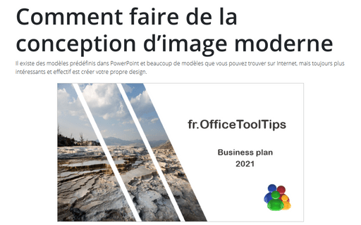 Comment faire de la conception d'image moderne dans la diapositive PowerPoint